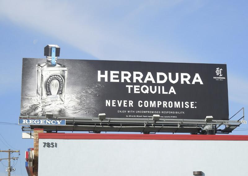 Herradura Tequila Never Compromise billboard