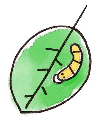 芋虫のイラスト(虫)