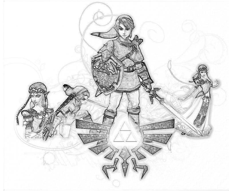 Printable The Legend of Zelda Concept Coloring Pages title=