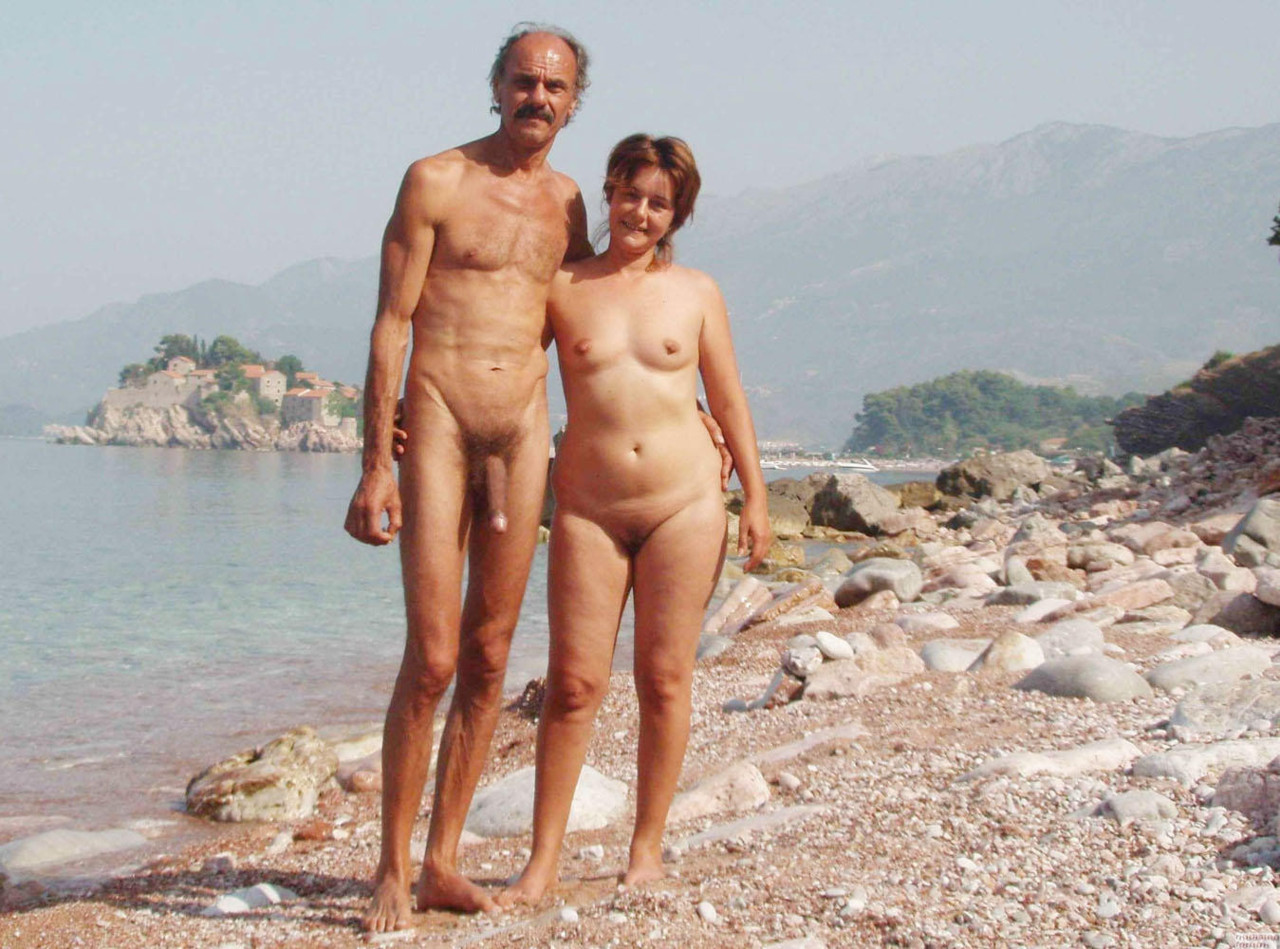 young families naked on beach