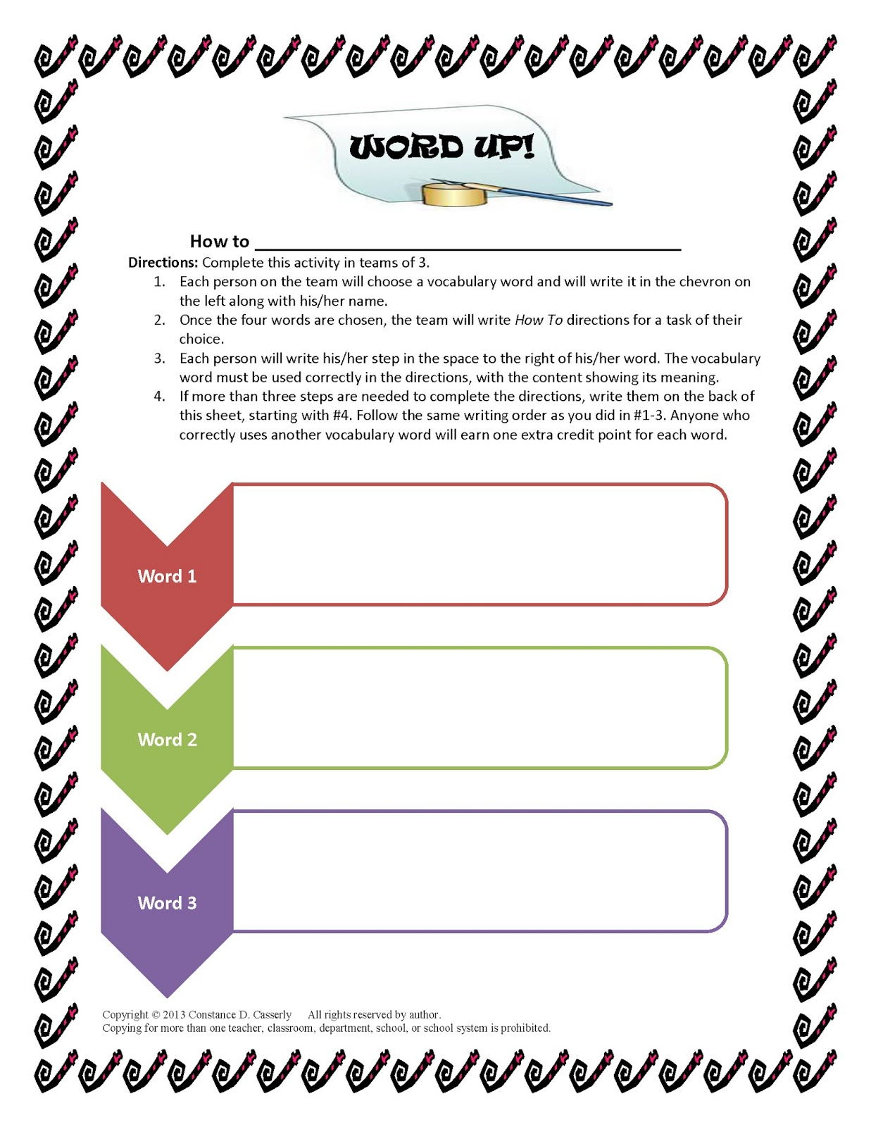 TEACH IT WRITE Word Up With the Power of Words – Middle School Vocabulary Worksheets