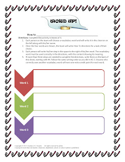 Middle and High School English Lesson Plans-Vocabulary Activity