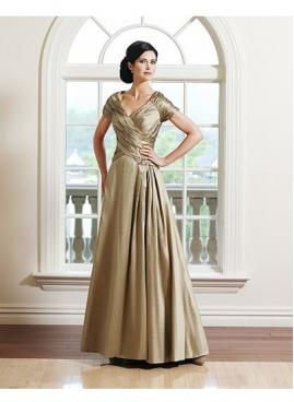 Wedding time spot champagne dress for elegant mother of bride for What to wear to a wedding besides a dress
