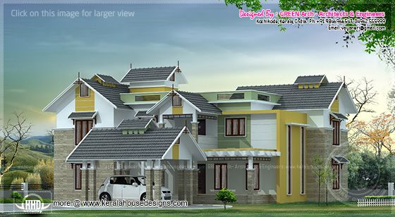 2950 sq-ft villa design