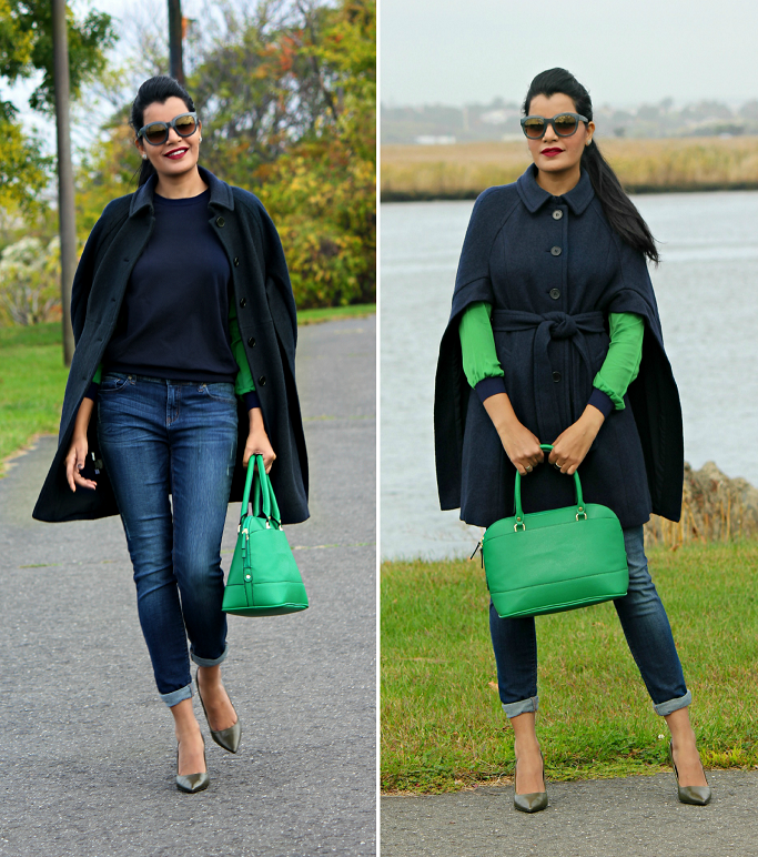 Ann Taylor Buttoned Up Boiled Wool Cape, Ann Taylor Cape, Capes For Winter, How To Wear A Cape, Cape with a belt