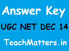 image : UGC NET DEC 14 Answer Keys