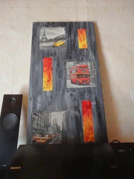ma petite vie tutoriel tableau style abstrait l 39 acrylique et collage serviette. Black Bedroom Furniture Sets. Home Design Ideas