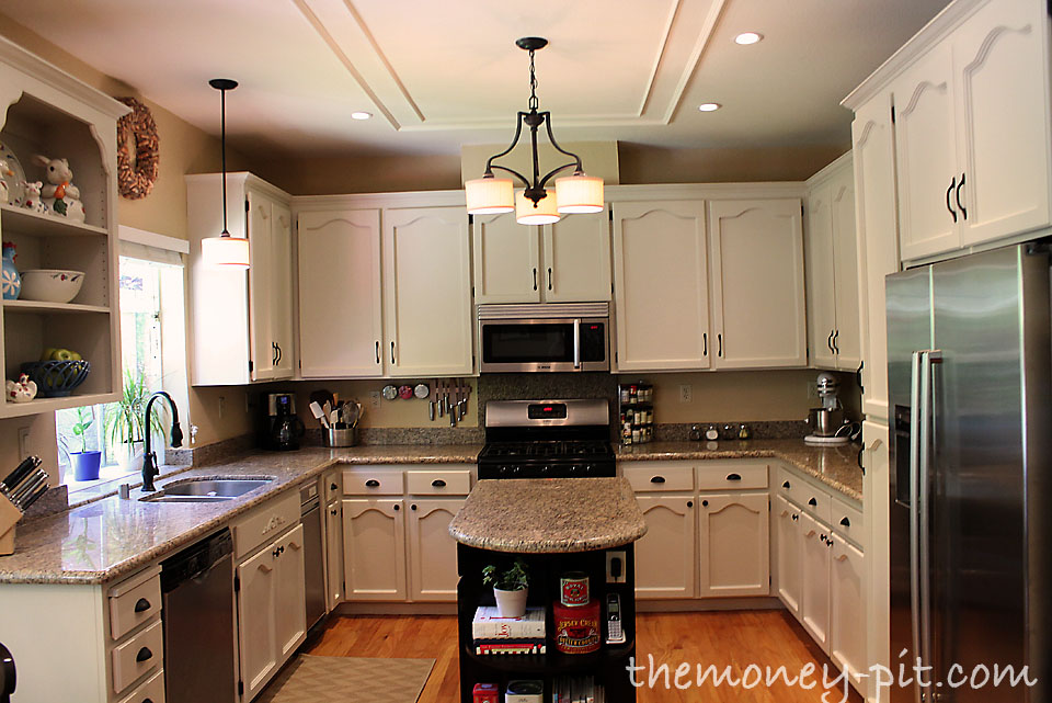 How to paint your kitchen cabinets without losing your mind the kim six fix - How to glaze kitchen cabinets that are painted ...