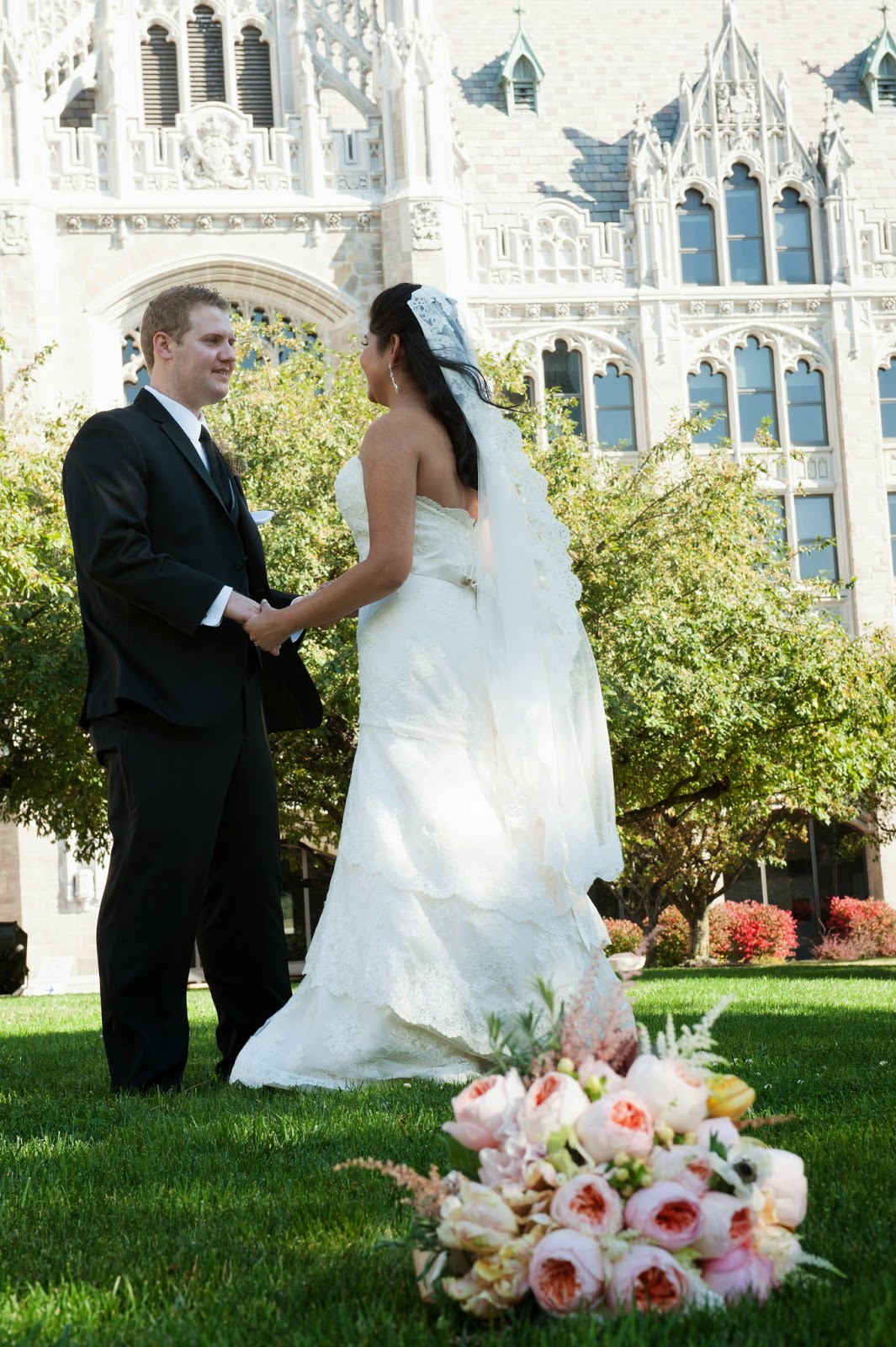 Sixty State Place Wedding - Pink Bride Bouquet - Downtown Albany NY Wedding - Old Historical Bank Wedding - Historical Venue Wedding - Upstate NY - Splendid Stems Floral Designs