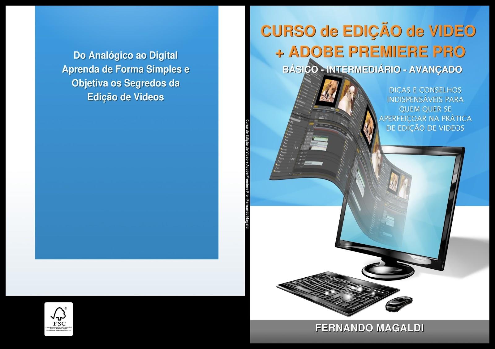 Curso de Edição de Vídeos com Adobe Premiere Pro CS6 cover capa curso edit video   fernando magaldi