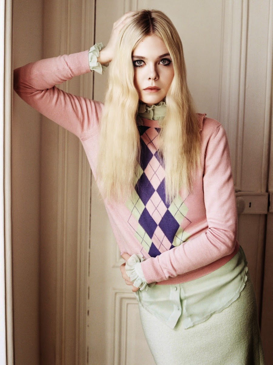Elle Fanning by Angelo Pennetta for Vogue UK June 2014