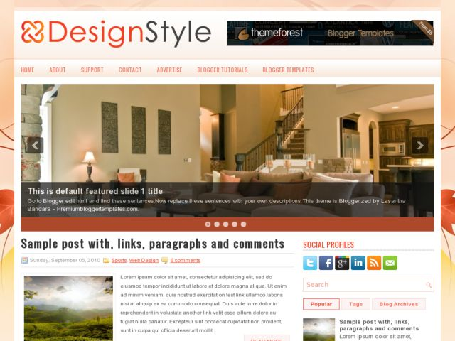 DesignStyle Blogger Template