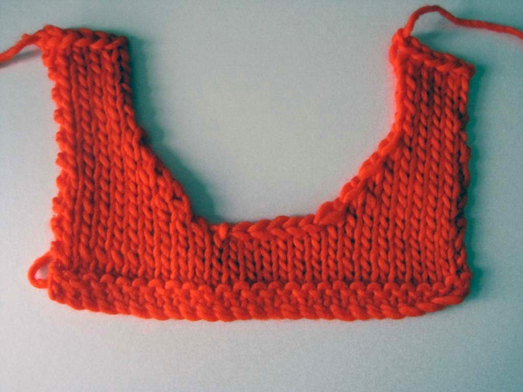 Knitting and More: Knitting a Round Neckline