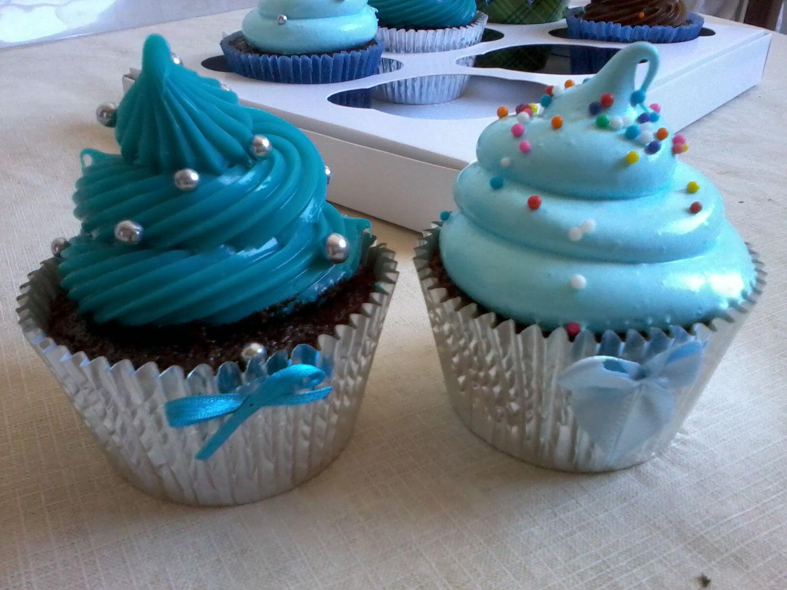 Carol Mello Cupcakes Cupcake Azul