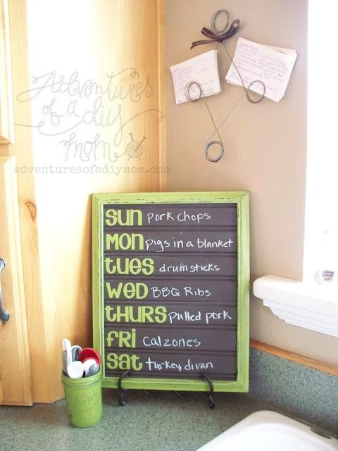 DIY Chalkboard Beadboard Menuboard