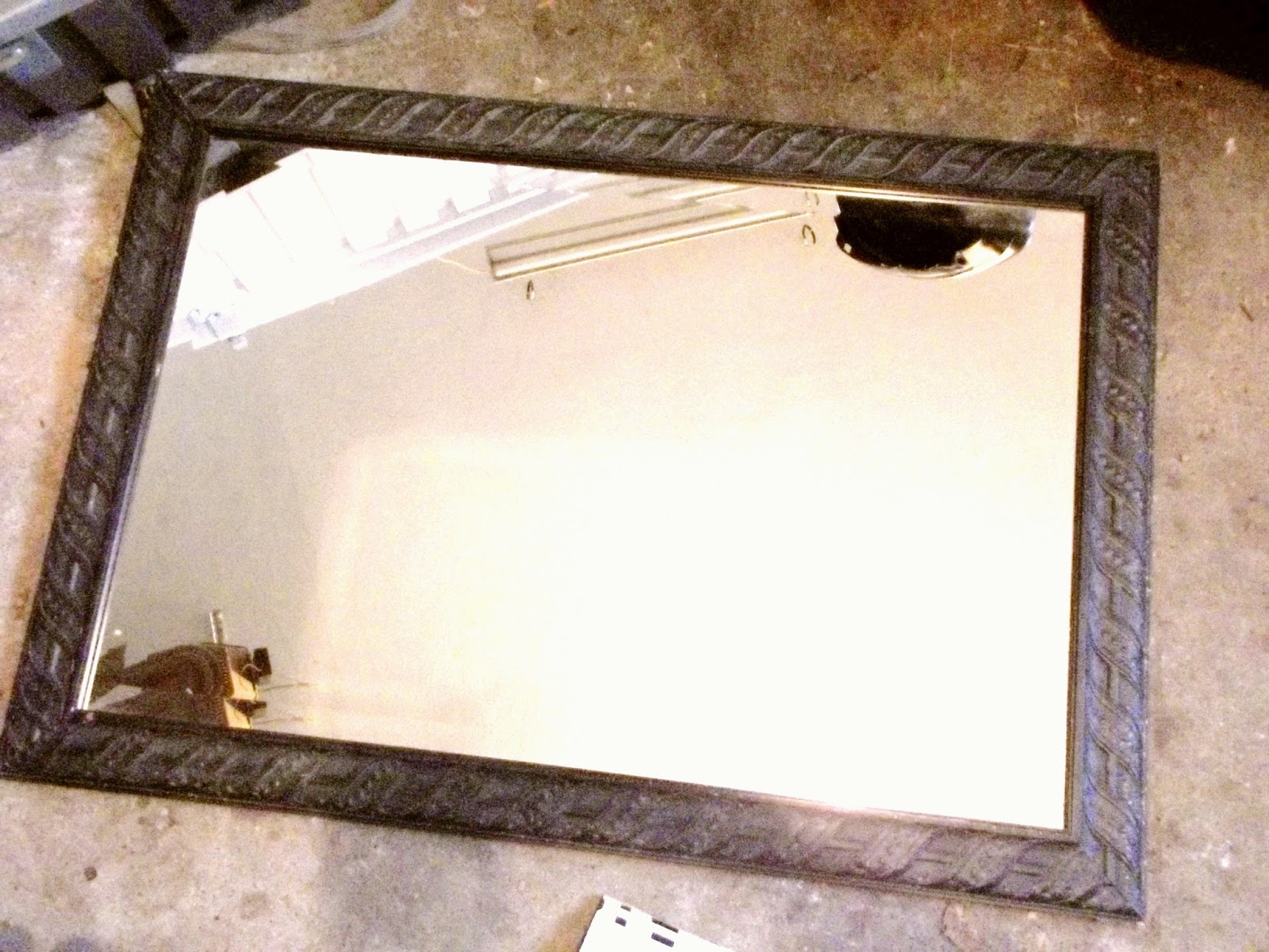 Wild Blumes: Painting an Old Mirror in the Frame
