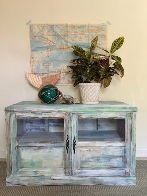 distressed and weathered paint