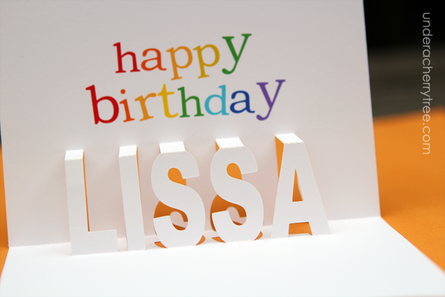 a popup birthday card for lissa  under a cherry tree  bloglovin', Birthday card