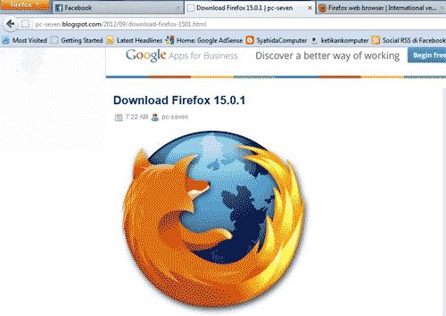 Firefox tanpa menu bar