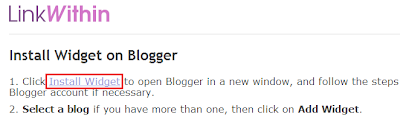 Installing Blogger widgets