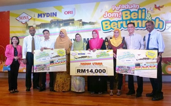 Jom! Beli & Berumrah, contest winners, prize giving ceremony, nona, ori, mydin