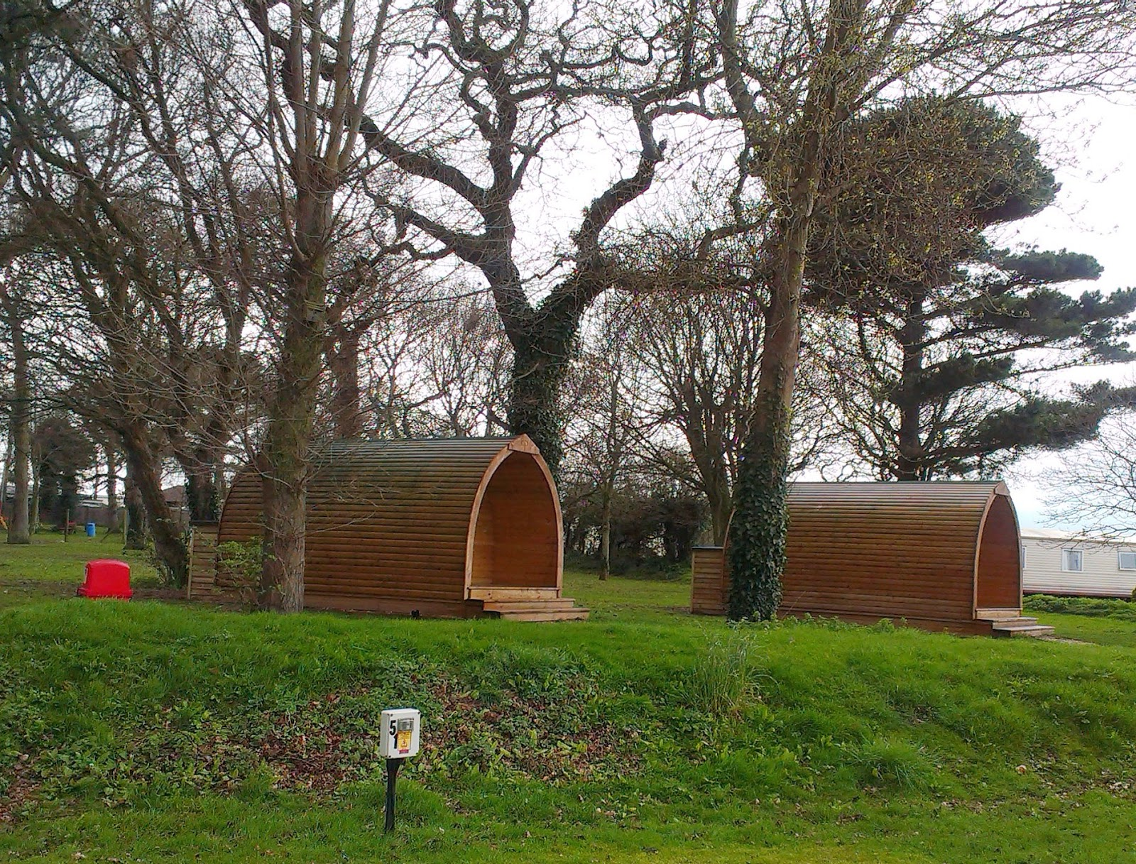 Camping pods at Blue Anchor