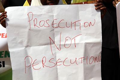 supporters protest for dokpesi in Abuja nine