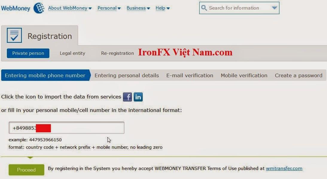 cách tạo tài khoản webmoney