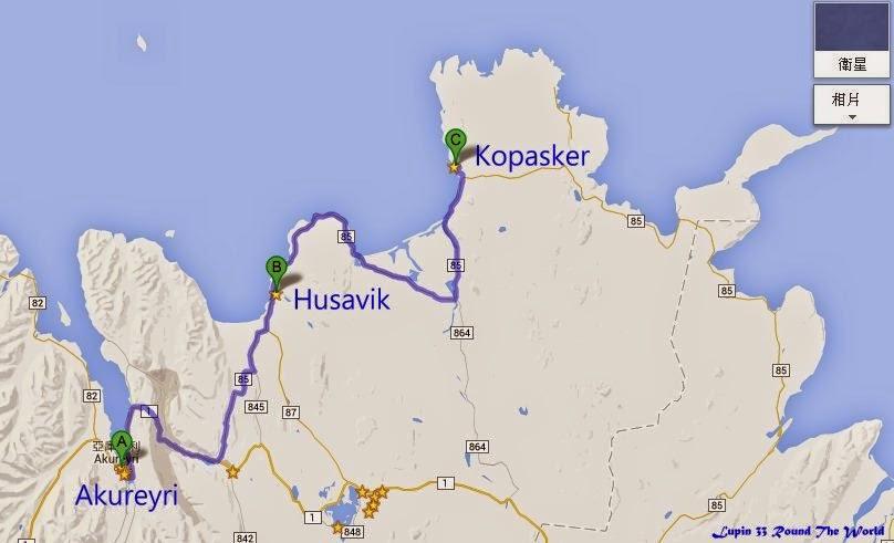 冰島自助旅行遊記照片Day6路線圖