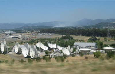 Radio Telescopes in northern California