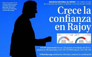 Crece la confianza en Rajoy.