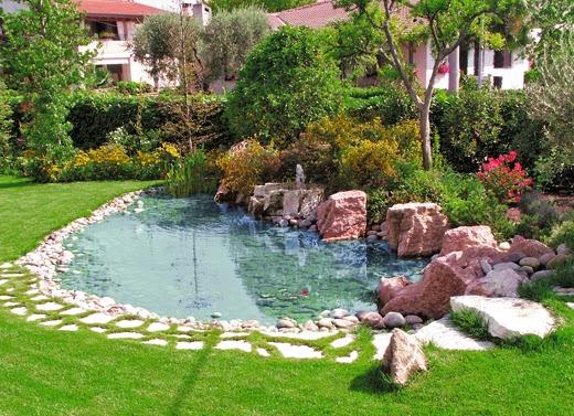 Laghetto la costruzione di un giardino acquatico for Immagini di laghetti artificiali