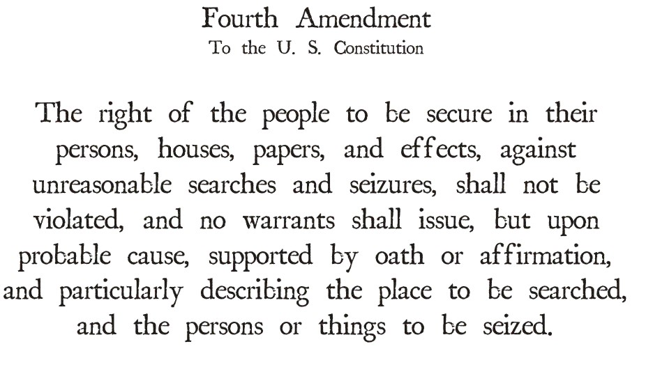 the codification of the fourth amendment essay This essay critiques professor orin kerr's provocative article, the fourth amendment and new technologies: constitutional myths and the case for caution, 102 mich l.