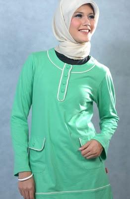 Actual Basic Busana Muslim Hijau