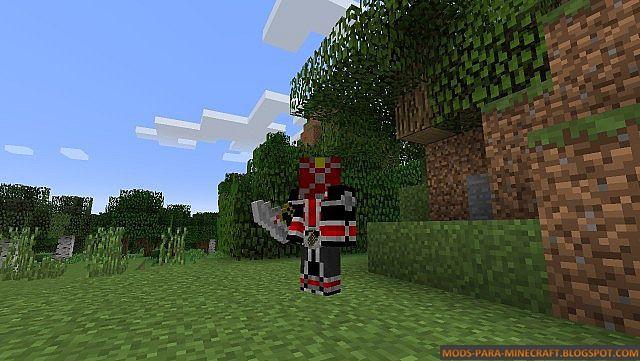 Los poderes de un Kamen Raider en Minecraft