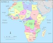 Mapa Político da África. Postado por André de Jesus Oliveira (mapa continente africa politico)