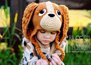 Handmade Crochet Coco the Spaniel Puppy Dog Animal Hat for boys and girls of all ages