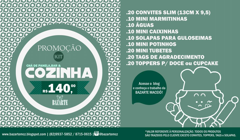 PROMOÇÃO CHÁ DE COZINHA