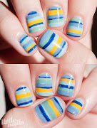 . I painted the stripes freehand with a nail art brush.