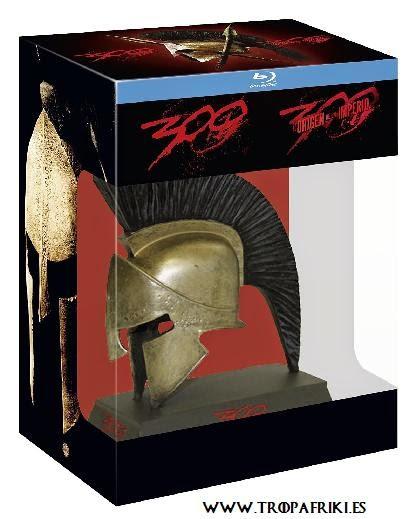 Pack: Saga Completa 300 y 300: El Origen De Un Imperio - Edición Limitada en Blue-Ray. Edición Casco de Espartano