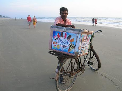 Big B ice cream on Zalor beach in Goa