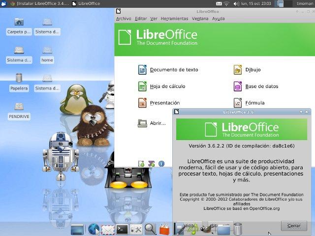 LibreOffice 3.6.2 en Xubuntu 12.04