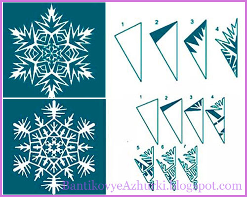 Снежинки из бумаги своими