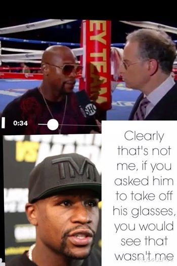 Floyd talking to much bull shit