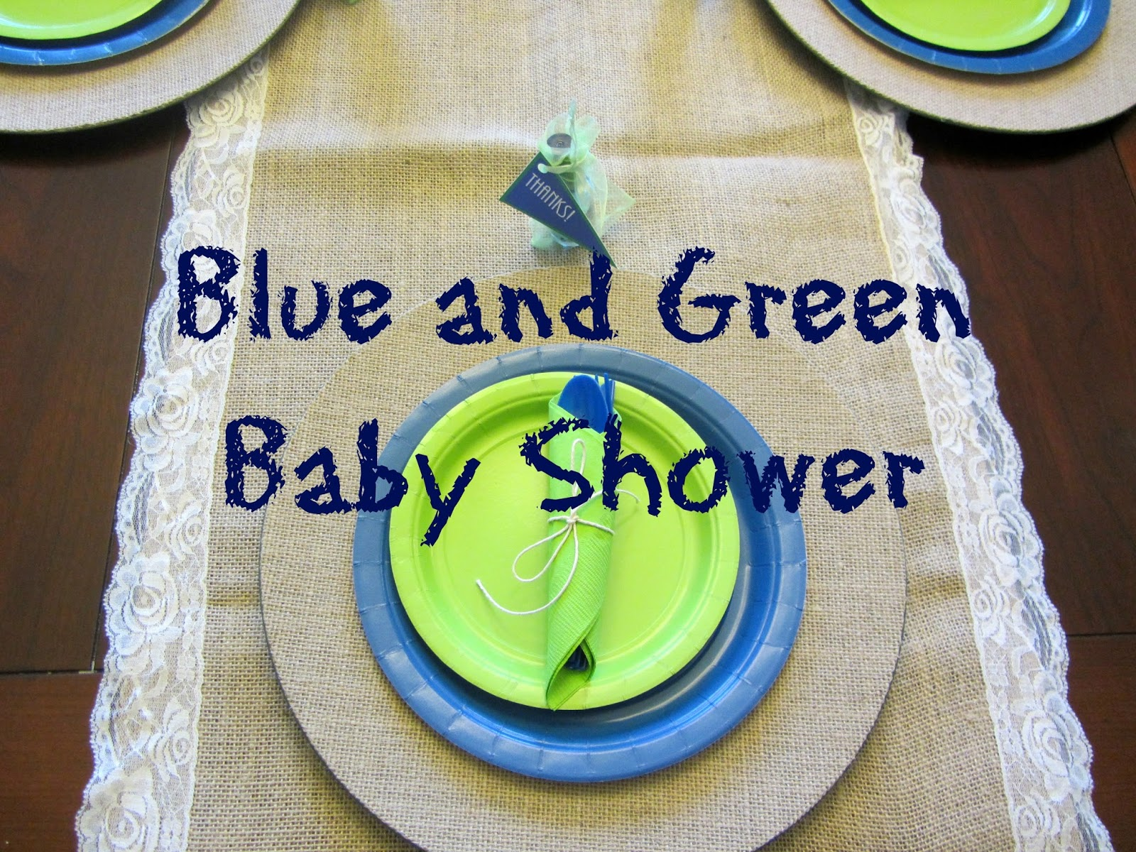 Delightful Blue And Green Baby Shower