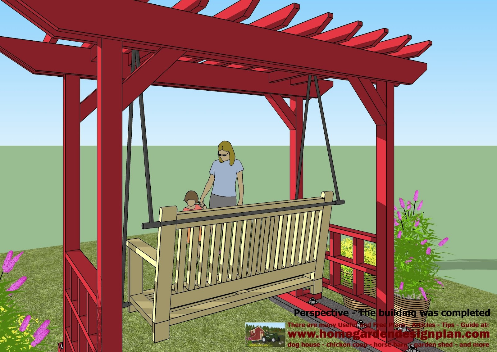 for chick coop SW100 Arbor Swing Plans Swing Woodworking