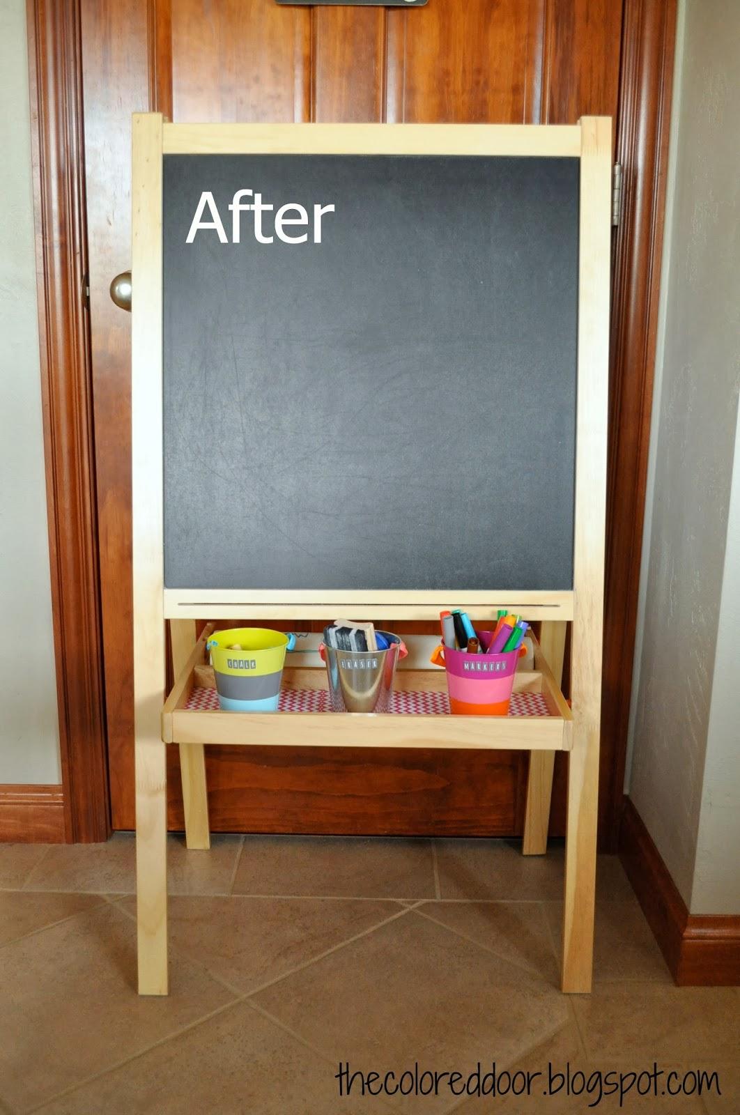 kids easel - the colored door & the colored door: Kids Chalkboard Easel pezcame.com