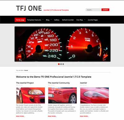 Free TFJ One Joomla 2.5/1.7 Template