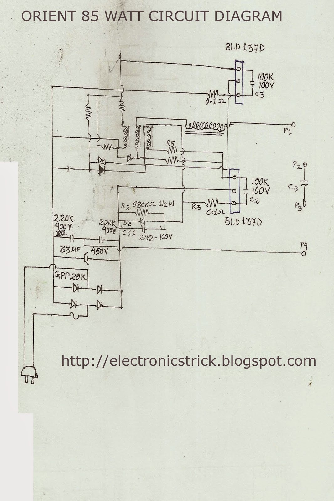 orient 85 watt cfl bulb circuit diagram tips and trick electronic