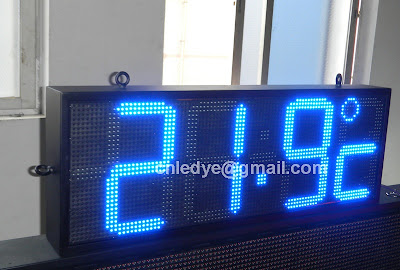 outdoor led time temperature display, led clock